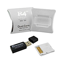 CO Wide Compatible R4 SDHC Micro Secure Digital Memory Card Adapter For DS-white