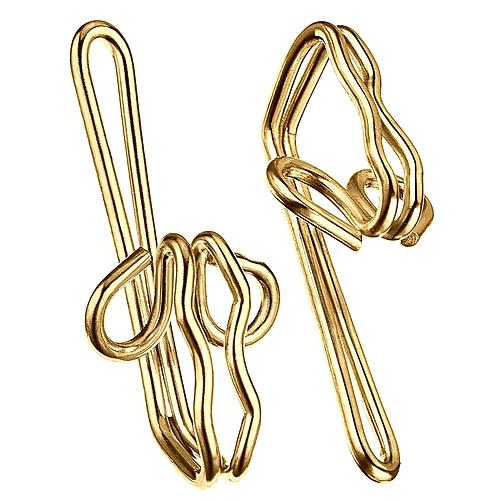 Generic Metal Curtain Hooks (Golden)