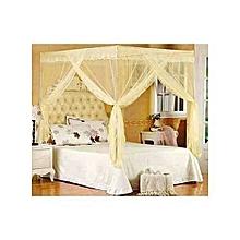 5*6 straight mosquito net with metallic stands cream