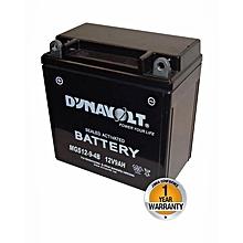 Motorcycle Maintenance Free Gel Battery - MGS12-9-4B - Black