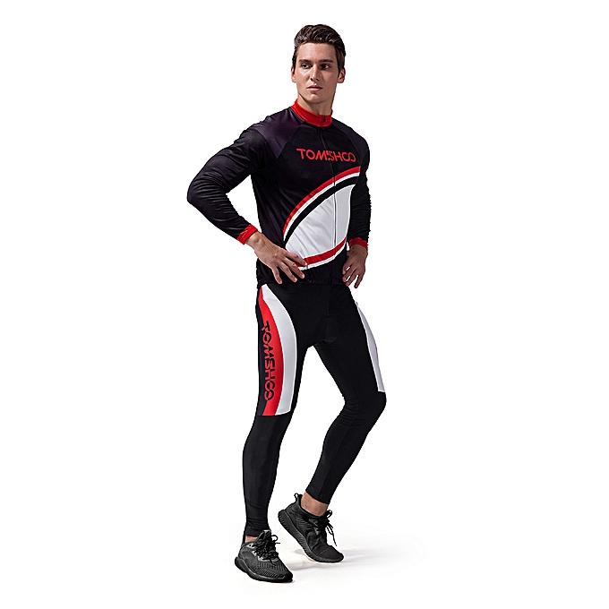 ... TOMSHOO Spring Autumn Men Cycling Clothing Set Sportswear Road Mountain  Bicycle Bike Outdoor Full Zip Long 8d76daa3a