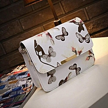 Women Floral Leather Shoulder Bag Satchel Handbag Retro Messenger Bag Famous Designer Clutch Shoulder Bags Bolsa Bag White