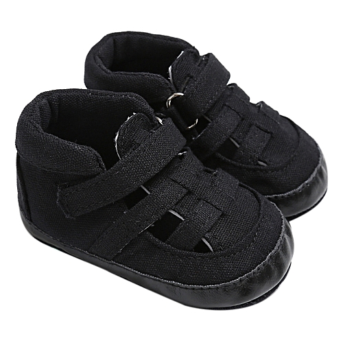 7e6ed55cd4ee7 Baby Infant Kids Girl Boys Soft Sole Crib Toddler Newborn Sandals  Shoes-Black