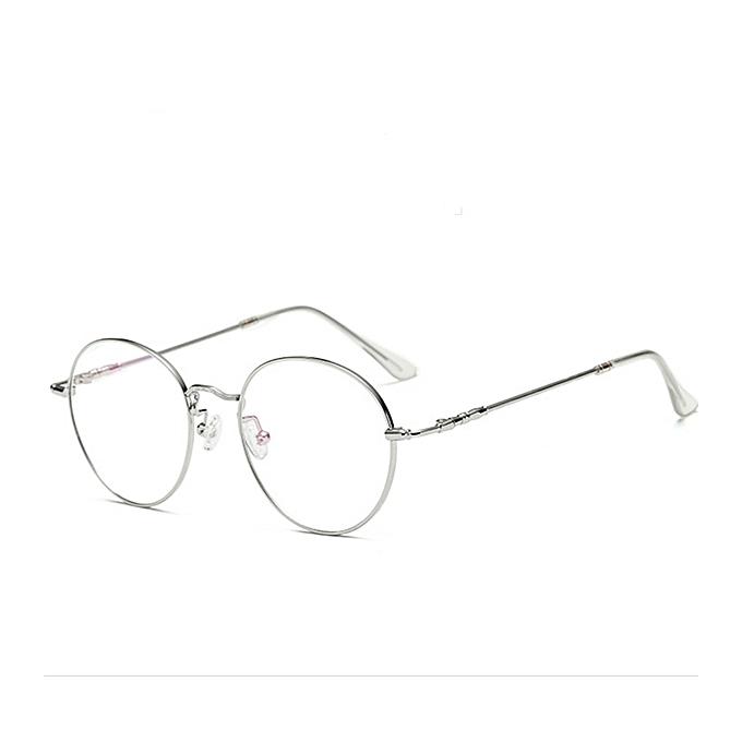 80e67071bb ... Unisex Ultralight Radiation Protection Eyeglasseess Round Oval Metal  Rim Vintage Lens Glasses ...