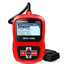 FOXWELL NT200C Engine Code Reader Sensor Freeze Frame OBDII Car Diagnostic Scanner-