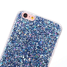 Glitter Ultra-Thin Glitter TPU Case Cover For Iphone 6 4.7inch BU-Blue