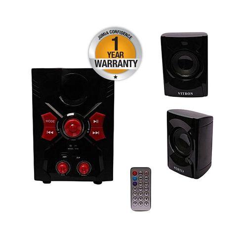 V036 2.1CH Multimedia Speaker System - Black Bluetooth Enabled.