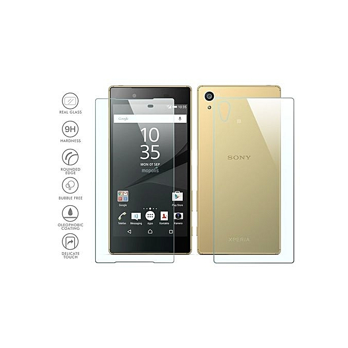NORTHJO® Front And Back Tempered Glass Film Screen Protector ForSony Xperia Z5 Premium (Clear ...
