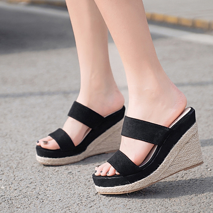 6a9e43ad970 SKI Shop Women's Fashion Casual High Heel Sandals