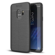 For Galaxy S9 Litchi Texture Soft TPU Anti-skip Protective Cover Back Case, Small Quantity Recommended Before Galaxy S9 Launching(Black)