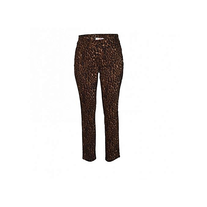 934103f64f99 Forever Young Brown Leopard Print Womens Pants @ Best Price Online ...