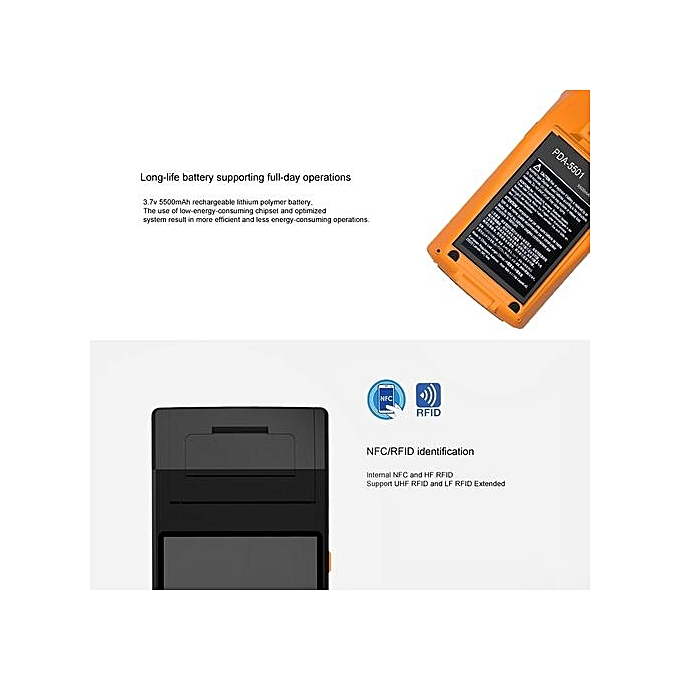 PDA-5501 Multi-function 5 5 Inch IPS Screen IP65 Protection All-in-one  Intelligent Terminal, Built-in Thermal Line Printer & MIC & Speaker,  Support