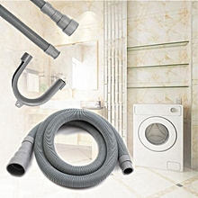 2.5M Washing Machine Dishwasher Drain Hose Extension Pipe W/ Bracket Kit