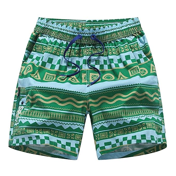 5547f0638f Fashion Men's Stripe Swim Trunks Quick Dry Casual Swim Shorts ...