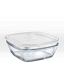 Lys Square Stackable Bowl - 17cm - Clear