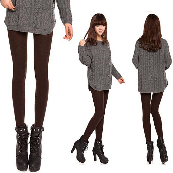 3bb5008003e Fohting Fashion Women Velvet Pantyhose Female Bottoming Socks Tights  Leggings CO -Coffee.