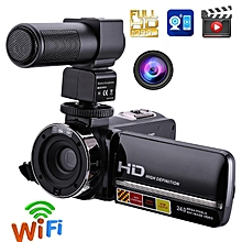1080P Full HD Camcorder Remote Control Infrared Night Vision Camera 24MP 16X Digital Zoom Video Camera w/ Microphone Touchscreen LOOKFAR