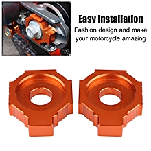 1 Pair Motorcycle CNC Rear Axle Spindle Chain Adjuster Blocks For KTM Duke 390 2013-2015
