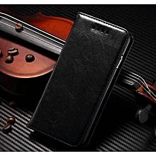 samsung c7 pro flip cover, richboss genuine leather flip cover. black