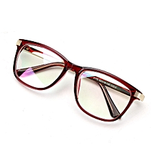 Women Men Retro Eyeglass Frame Full-Rim Glasses Clear Lens Metal Designer Unisex