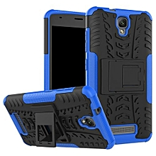 "For Blade L5 Case, Hard PC+Soft TPU Shockproof Tough Dual Layer Cover Shell For 5.0"" ZTE Blade L5 Plus, Blue"