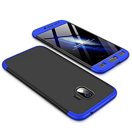 timeless design 76c26 0991e For Galaxy J2 Pro 2018 Case 360 3in1 Full Protection Hard Casing Back Cover  For Samsung Galaxy J2 Pro 2018 Housing Shell 192992 (Black-Blue)
