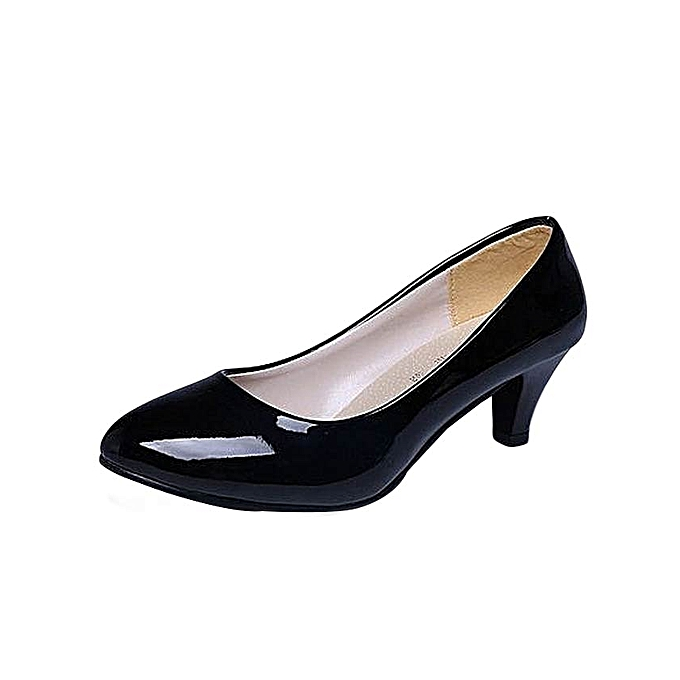 c7f7a1780aa1 Generic Shallow Mouth Women Office Work Heels Shoes Elegant. Womens Comfort  Low ...
