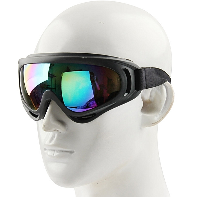 bf2b8942014f Non Branded Windproof Anti-dust Goggles   Snowboard Goggles With Strap Leash