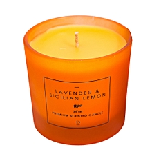 Scented Candle In Jar - 6.5 oz - Bright Yellow