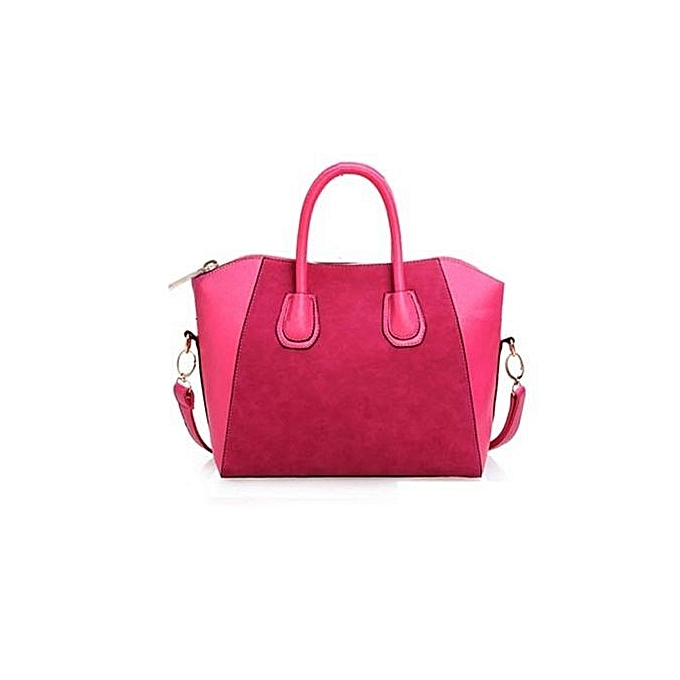 936f8072cf bluerdream-Women PU Leather Frosted Handbag Shoulder Bags Tote Purse Bag  Hot Pink-Hot