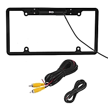 Car License Frame 170 Degree Lens Angle Car Rearview Parking Backup Camera black