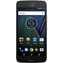 Moto G5 Plus 5.2-Inch HD (3GB, 32GB ROM) Android 7.0 Nougat 12MP + 5MP 4G Smartphone - Lunar Grey