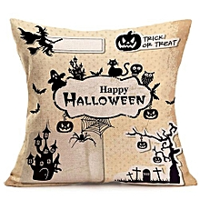 Happy Halloween Pillow Cases  Linen Sofa Cushion Cover Home Decor