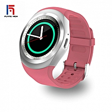 Touch Screen Bluetooth Music  Waterproof Smart Watch TF Smart Phone Pink Android4.4