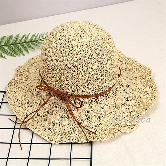 71bb9aaa5c9374 Chic Straw Sun Hat for Women Fashion Handmade Foldable Roll Up Hat Fedora  Beach Wide Brim