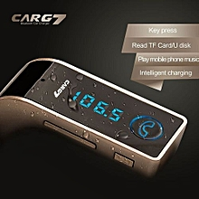 Bluetooth Car 4 in 1 HandsFree Wireless Bluetooth Transmitter Modulator A2DP Car Kit SD USB LCD Music Player G7 + AUX