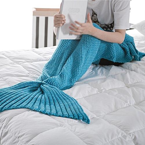 Allwin Mermaid Tail Blanket Knitted Handmade Crochet Mermaid Blanket