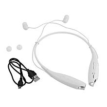 Wireless Bluetooth 4.0 Headset Earphone - White