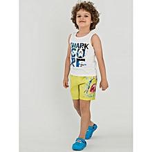 Boy White Beachwear Set
