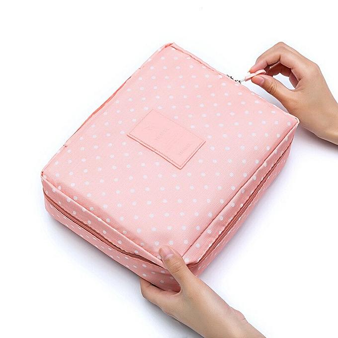 ccd4d28a0498 Outdoor Women Makeup Bag Multi Cosmetic Bag Beauty Case Make Up Organizer  Zipper Toiletry Bag Storage Travel Kit Bag(PinkDian)