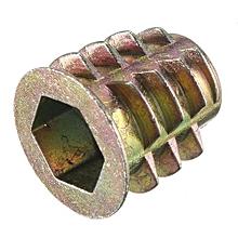 Zinc Hex Drive Head Screw Insert Nut Threaded For Wood M4 M5 M6 M8 M10