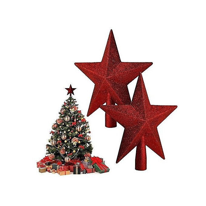 Home Decor Christmas Ornament Five Pointed Star Tree Topper 11cm Gold