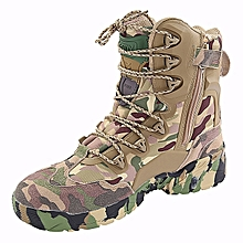 ESDY Men Tactical Winter Army Boots Desert Shoes Outdoor Hiking Leather Military Combat Male
