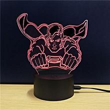 TD100 Creative Superhero 4D LED Lamp - Blue