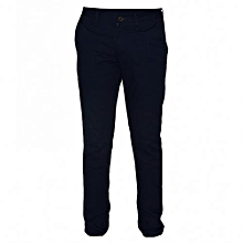 Navy Mens Slim Fit Pants