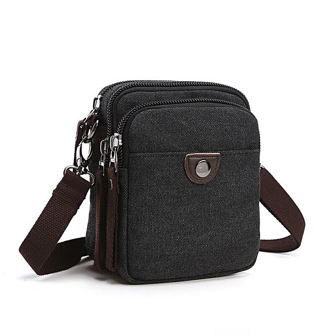 ea741c094ffe New 2019 Design Men Canvas Small Messenger Bag High Quality Casual Handbags  Crossbody Shoulder Bags bolsa an682(black)