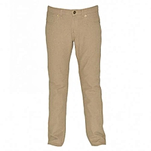 Beige Boys Slim Fit Pants