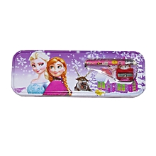 Frozen Tin Pencil Case  - Purple/White