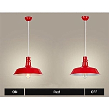 Vintage Suspensions Ceiling Lights Decorative Chandelier 36cm -Red