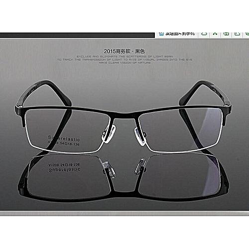 5f2d5892a9fd Beauty Men Glasses Metal Spectacles Optical Half Rimless Eyeglass Frame  Eyewear HOT